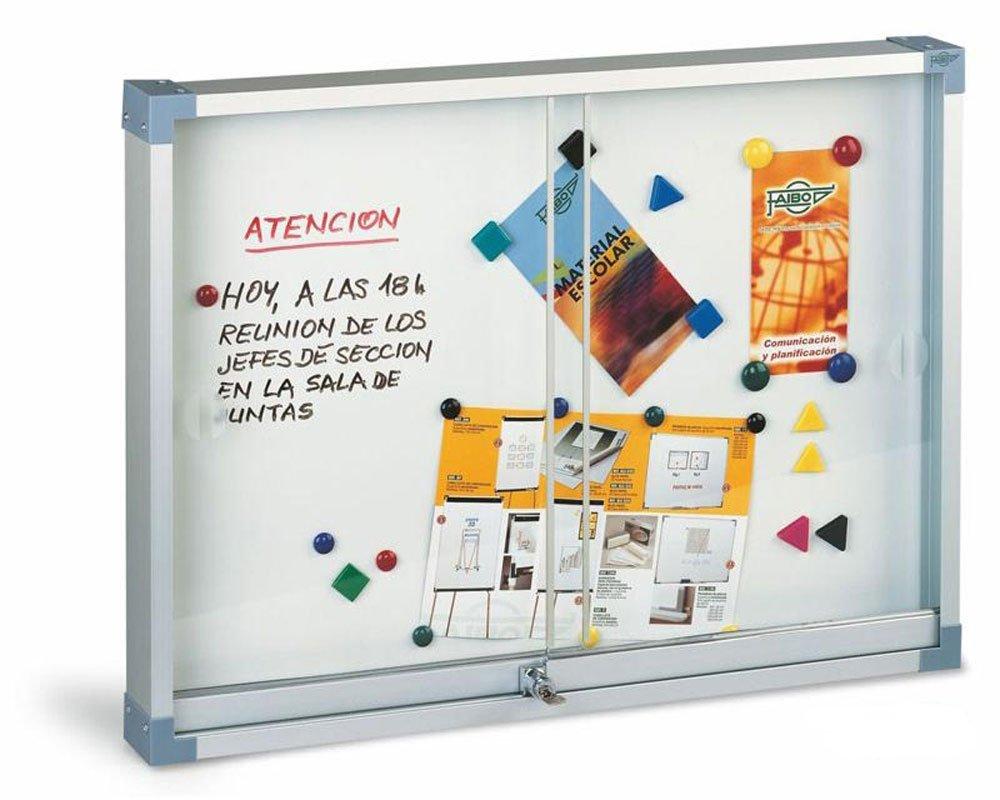 Faibo 288540 - Vitrina magnética con puerta corredera, 90 x 120 cm: Amazon.es: Oficina y papelería
