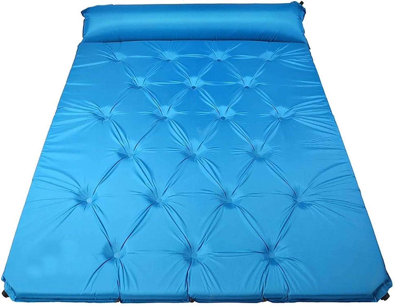 Rcd Doppelte aufblasbare Matratze Schlafmatte Outdoor Camping Zelt Wigwam Wigwam Wigwam Feuchtigkeitsfest Pad 5 cm Selbst Aufblasbare Matte Kissen (Farbe   Blau) B07PZS5SYH  Sorgfältig ausgewählte Materialien c04ded