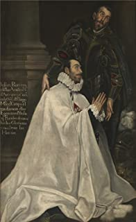 Oil Painting 'El Greco Julian Romero And His Patron Saint 1594 1604 ' Printing On Polyster Canvas , 12 X 20 Inch / 30 X 50 Cm ,the Best Gym Decor And Home Artwork And Gifts Is This Beautiful Art Decorative Prints On Canvas
