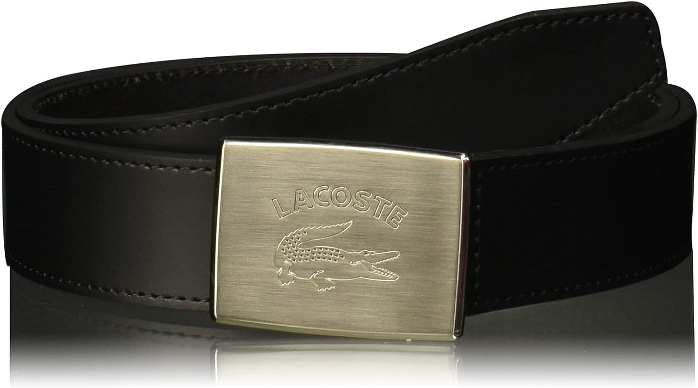Lacoste Men's Retro Big Croc Buckle Belt