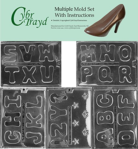 Save %25 Now! Cybrtrayd BUN-L004L005L006L007L008 5-Piece Full Alphabet Chocolate Molds