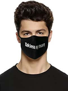 Jack & Jones Men's Cotton Reusable 3 Layer Protective Fashion Cloth Mask (Pack of 3) (12187803_Black _OS)
