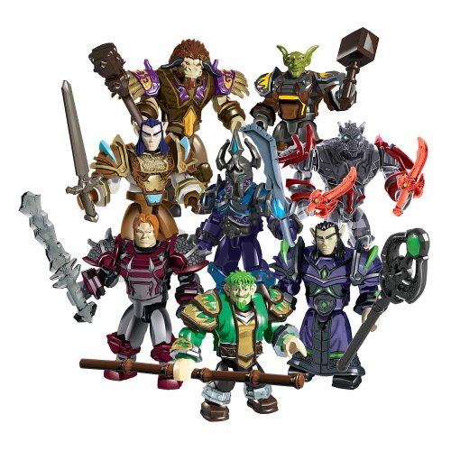 World of Warcraft Series 1 Mystery Pack–8per raccogliere La maggior parte dei set contiene 1Figure, 1armi, 2blocchi e un collezionista foglio Pericolo di soffocamento–piccole parti, non per i bambini sotto i 3anni