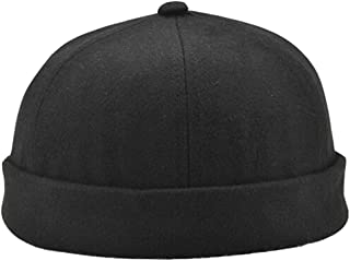 Retro Rolled Cuff Skull Caps Brimless Beanie Hats for Men/Women