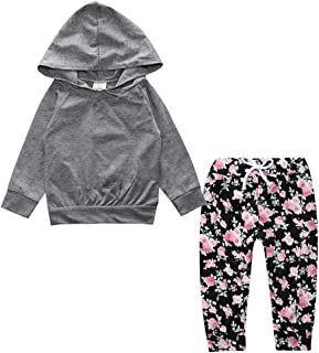 Fairy Baby Toddler Baby Girls Outfit Clothes Casual Cotton Hood Sweatshirt and Pant Set