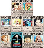 RGF New Edition One Piece Pirates Wanted Posters, Straw Hat Pirates Crew Luffy Chopper Zoro Nami Usopp Sanji Jinbe Franky Brook Robin(10pcs) (Bronze)