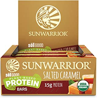 Sunwarrior - Sol Good Protein Bar, Vegan, Organic, Brown Rice, Pea & Quinoa Protein (Salted Caramel)