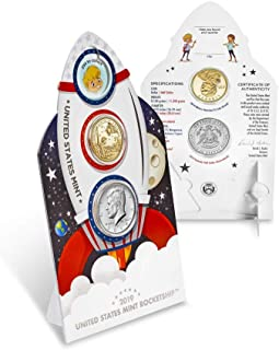 2019 Various Mint Marks Kennedy Half Dollar 2019 Rocketship 2 Coin Set Kennedy UNC and Proof Dollar Brilliant Uncirculated