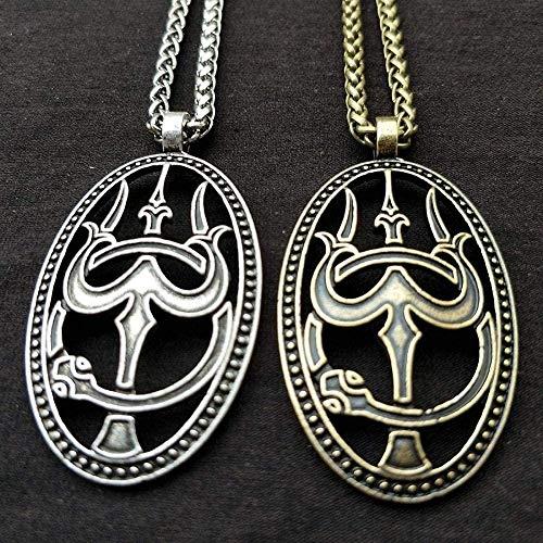 Liuqingzhou Co.,ltd 2 Piezas de Colgante de tridente y Serpiente y Collar de joyería de hinduismo para Hombres y Mujeres, Amuleto de joyería India