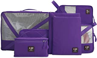 SYFO Travel Organizer Packing Bags 7 Sets Luggage Organizer Travel Storage Bags Perfect Storage Bags for Clothes Suitcase Shoes Large Capacity Design (Color : Purple)