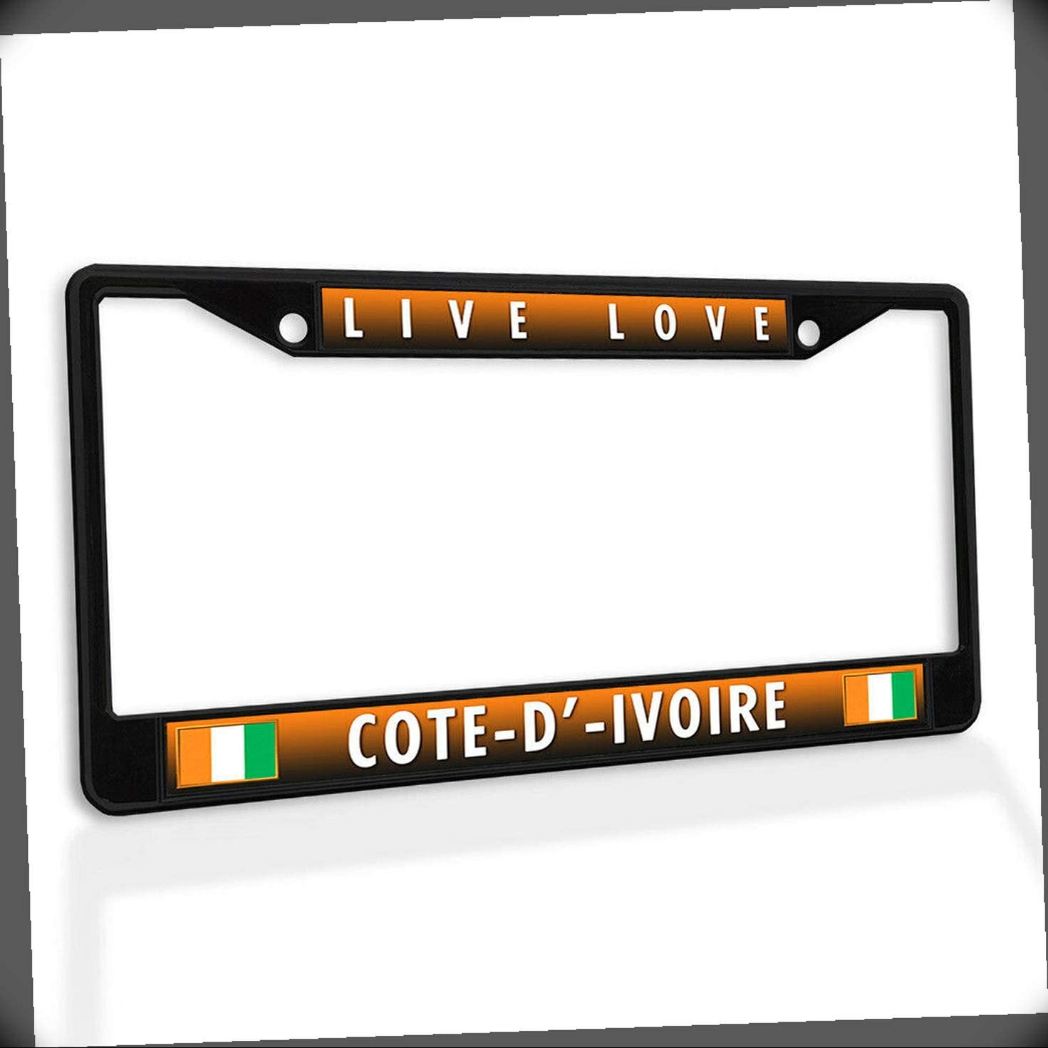 New License Plate Frame Limited 100% quality warranty! price sale Live Love Metal Cote-D'-Ivoire Car Inser