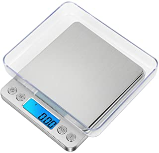 GPISEN Balance Numérique de Précision, Balance d'ordinateur Portable, avec écran LCD et 6 Unités, Plateau en Acier Inoxyda...