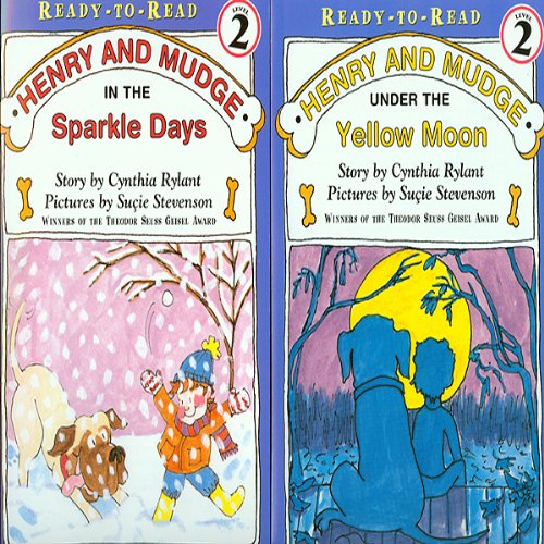 'Henry and Mudge Under the Yellow Moon' and 'Henry and Mudge in the Sparkle Days' audiobook cover art