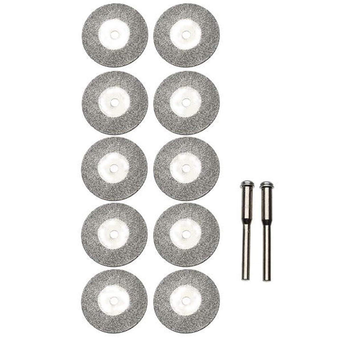 ボア自信がある微弱HTYJY ロータリーツール用10個25mmダイヤモンド研削ホイールスライスドレメルアクセサリーキット 作します