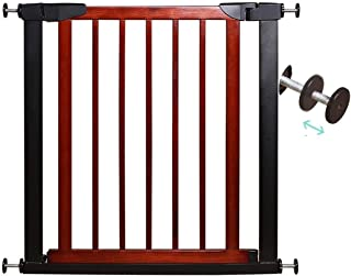 Baby Gates for Stairs Fence Fence Pet Safety Door Bar Solid Wood Free Punching Dual Lock Self Closing