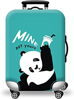 Colorful Washable Travel Luggage Protector Luggage Suitcase Cover Fit 18-28 Inch Bright and Cute Luggage Cover(NO4 M)