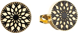 Diamond Moon Stainless Steel Cufflinks for Men, Stainless Steel - 1800541240456