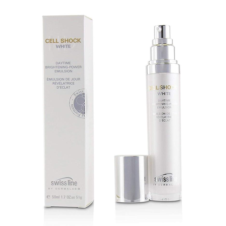 ブローホールマーケティングクランプスイスライン Cell Shock White Daytime Brightening-Powder Emulsion 50ml/1.7oz並行輸入品