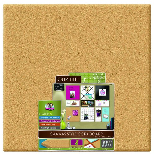 "The Board Dudes Cork Board - Black Frame 35"" X 22"""