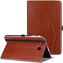 Samsung Galaxy Tab E 9.6 Case, Ztotop Premium Leather Slim Folding Cover for Samsung Galaxy Tab E Wi-Fi/Tab E Nook 9.6-inch Tablet(SM-T560/T561/T565 & SM-T567V), Brown