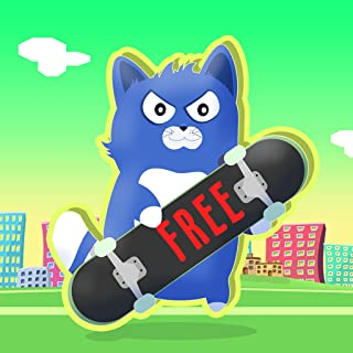 Little Kitty on a Skateboard : The Cat Skate Race Game Fun Simulator - Free Edition
