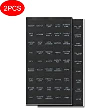 SENRAN Decal Sticker Label Sheet for Caravan Marine Boat Dash Board Instrument Rocker Switch Circuit Panel GPS Horn Light