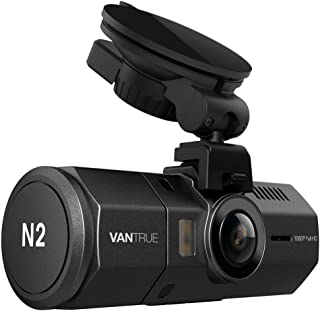 "Vantrue N2 Dual Lens Dash Cam 1080P Front and Rear Dash Camera, 310° Wide Angle 1.5"" LCD with HDR Car Video Recorder Dashboard Camera with Parking Mode, Front Camera Night Vision Effects, Optional GPS Function, Motion Detection, G-Sensor & Time Lapse"