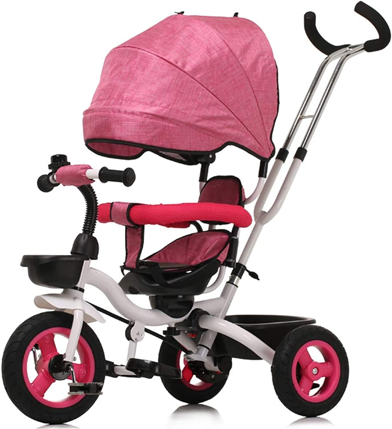 YUMEIGE Kids' Tricycles Kids Tricycle 16 Years Old Birthday Gift Tricycle Load Weight 25 kg Kids Strollers Toddler Trike with Awning (color  Pink,Purple) Available