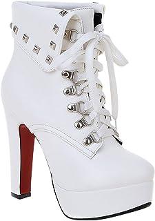 chaussures de séparation 49755 64201 Amazon.fr : talon - Blanc / Bottes et bottines / Chaussures ...