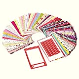 (100 Sticker Frames) - Polaroid Colourful, Fun & Decorative Photo Border Stickers For 2x3 Photo Paper Projects (Snap, Zip, Z2300) - Pack of 100