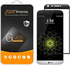 (2 Pack) Supershieldz for LG G5 Tempered Glass Screen Protector, (Full Screen Coverage) Anti Scratch, Bubble Free (Black)