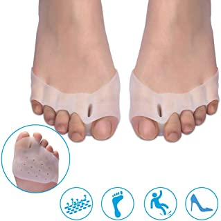 Toe Separator - Phileex Gel Toe Stretcher - Forefoot Cushion for Foot Pain Relief - Prevent Calluses and Blisters - Unisex