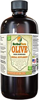 Olive (Olea Europaea) Tincture, Organic Dried Leaves Liquid Extract (Brand Name: HerbalTerra, Proudly Made in USA) 32 fl.oz (0.95 l)