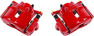 CCK11848 [2] FRONT Performance Grade Red Powder Coated Semi-Loaded Caliper Assembly Pair Set