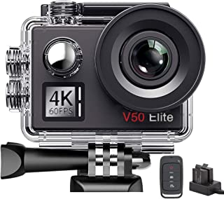 AKASO V50Elite 4K 60fps WiFi Action Camera Touch Screen Voice Control EIS 40m Underwater Waterproof Camera Adjustable View...