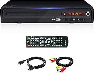 DVD-speler voor tv, DVD/CD/MP3-disc-speler met afstandsbediening, alle regio's gratis, PAL/NTSC... (WST-977Black)