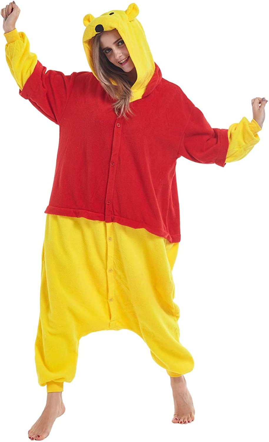 Zinuods List price Unisex Adult Pajamas Winnie Outlet sale feature Onesies The Animal Cosp Pooh