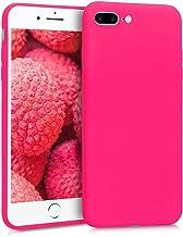 kwmobile Apple iPhone 7 Plus / 8 Plus Cover - Custodia per Apple iPhone 7 Plus / 8 Plus in silicone TPU - Backcover protezione rosa shocking