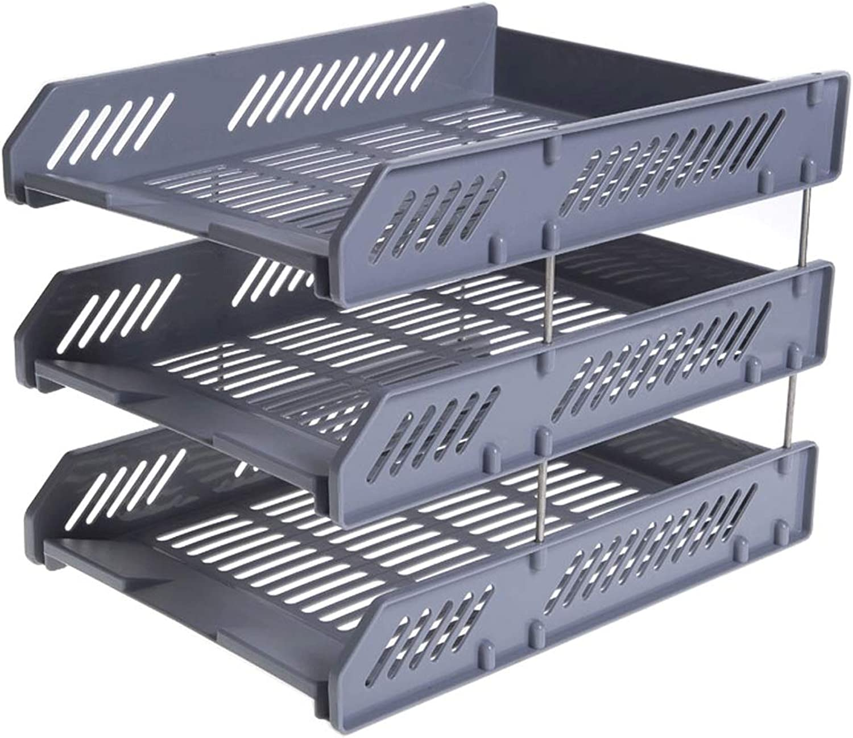 WXH-Datei Halter Feilenhalter Feilenhalter Feilenhalter Multi-Layer-Rack Desktop Aufbewahrungsbox Bürobedarf Bücherregal Korb (Farbe   B) B07JCSH1F5 | Charakteristisch  26b253