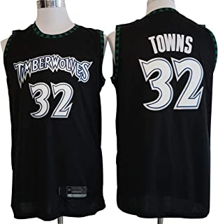 YHIU - Camiseta de baloncesto para hombre #32 Karl-Anthony Towns-Minnesota Timberwolves Jersey, ropa deportiva, unisex, sin mangas, bordado de malla de baloncesto, color Color, tamaño Medium