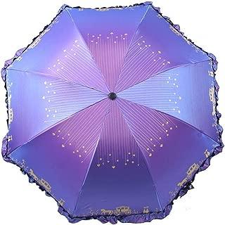 AUWANGAOFEI Chameleon Vinyl Skirt Lace Parasol Sun Shade Umbrella (Color : Purple, Size : 8k)