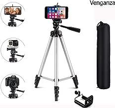 Venganza Adjustable Aluminium Alloy Tripod Stand Holder for Mobile Phones & Camera, 360 mm -1050 mm, 1/4 inch Screw + Mobile Holder Bracket