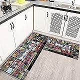 Alfombras Cocina Lavable Antideslizante El Amor es ser dueño del Perro Schnauzer, Alfombrilla de Goma Alfombra de Baño