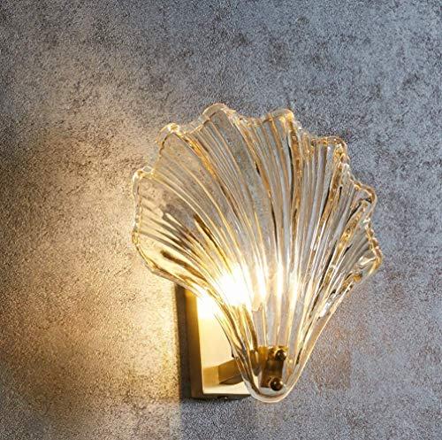 HYY-YY Shell lámpara de Pared, luz Moderna Sala de Estar Pasillo Dormitorio lámpara de cabecera
