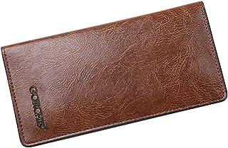 BeniMen's long wallet thin wallet-Light brown