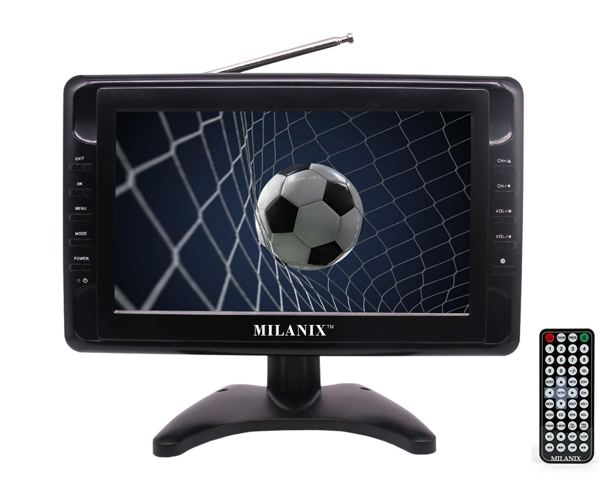 Milanix MX10 - Televisor portátil de 10 Pulgadas con Pantalla panorámica LCD y Antena extraíble, Ranura para Tarjeta USB/SD, sintonizador Digital Integrado y entradas AV: Amazon.es: Electrónica