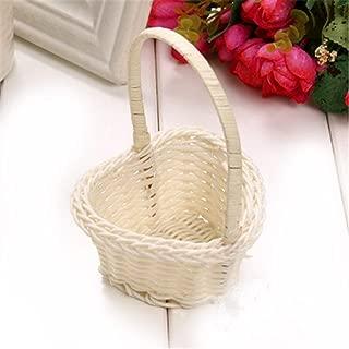 INOUSA Mini Flower Basket Simple Handmade Weaving Rattan Storage Pot for Kitchen Party Office Hotel Supplies Picnic Basket