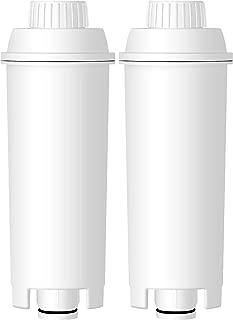 AQUACREST TÜV SÜD Certified DLS C002 Coffee Water Filter, Compatible with De'Longhi 5513292811, DLS C002, CFL-950, SER3017, ECAM/ESAM/ETAM Series, EC680, BCO420 (Pack of 2)