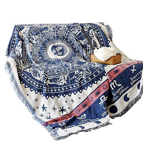Tapiz de algodón QEES con decoración de motocicleta, manta de sofá tejida de tela de poliéster, liviana, hippie. Para colgar para decoración de la pared, manta de playa, camino de mesa y mantel
