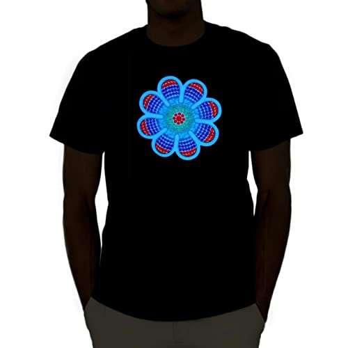 aa85c25f81 Emazing Lights Sound Activated Light Up Rave Shirt (X-Large, Daisy)